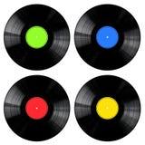 samlingen registrerar vinyl stock illustrationer