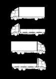 samlingen silhouettes lastbilen royaltyfri illustrationer
