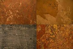 samlingen stenar texturer Arkivfoto