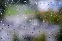 samlingen tappar naturregnfönstret Royaltyfria Bilder