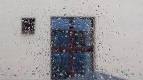 samlingen tappar naturregnfönstret Arkivfoton