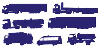samlingen trucks vektorn vektor illustrationer