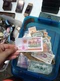 Samlingsantikvitet för utländska pengar Royaltyfria Bilder