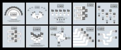 Samlingsbeståndsdel för det geometriska diagramet stikersregnbåge för infographicsmall för rengöringsduk Royaltyfri Bild