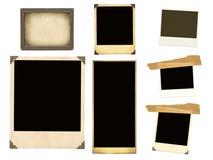 Samlingsbeståndsdelar för scrapbooking Royaltyfria Foton