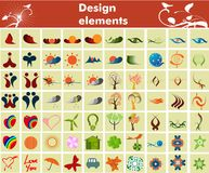 samlingsdesignelement Stock Illustrationer