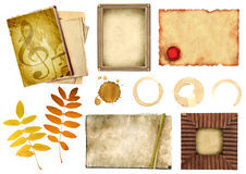 samlingselement som scrapbooking Arkivbilder