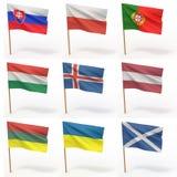samlingseuropeanflaggor vektor illustrationer