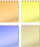 samlingsfärganteckningsbokar stock illustrationer