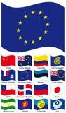 samlingsflaggavektor Royaltyfri Fotografi