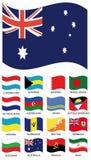 samlingsflaggavektor Arkivfoto