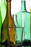 Samlingsflaskor Arkivfoton