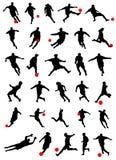 samlingsfotbollvektor stock illustrationer