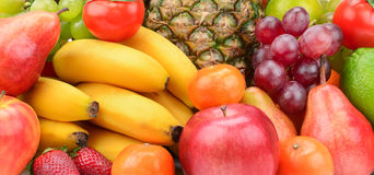 Samlingsfrukt med ananas Arkivfoton