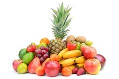 Samlingsfrukt med ananas Royaltyfria Bilder