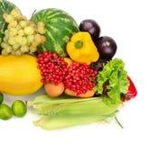 Samlingsfrukt och grönsaker Arkivbild