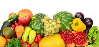 Samlingsfrukt och grönsaker Arkivfoto