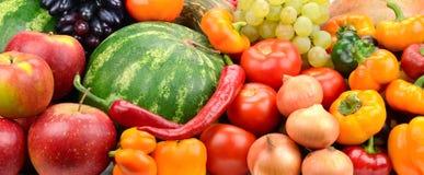 Samlingsfrukt och grönsaker Royaltyfri Foto