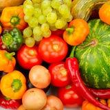 Samlingsfrukt och grönsaker Royaltyfri Fotografi
