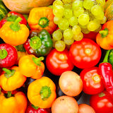 Samlingsfrukt och grönsaker Arkivfoton