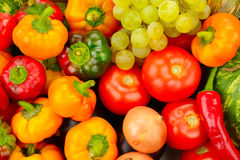 Samlingsfrukt och grönsaker Royaltyfria Bilder
