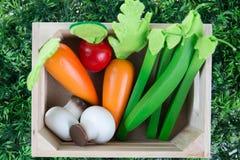 Samlingsfrukter och grönsaker för barn Arkivbilder
