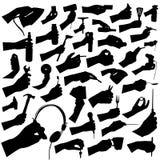 samlingshandtoolvektor stock illustrationer