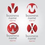 Röd logo för vektor Arkivbilder