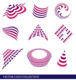 samlingslogovektor vektor illustrationer