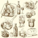 samlingsmat stock illustrationer