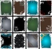 samlingsramgrunge vektor illustrationer