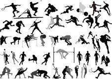 samlingssportvektor vektor illustrationer