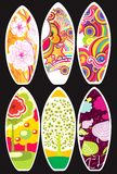 samlingssurfingbrädor royaltyfri illustrationer