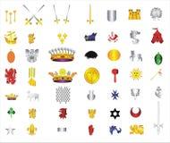 samlingssymbol för 05 tecknad film Arkivbilder