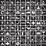 samlingssymboler Arkivbilder
