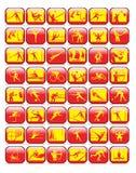 samlingssymbolssport stock illustrationer