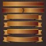 Samlingsuppsättning av bronsbandbaner vektor illustrationer