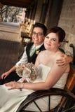 Samma könsbestämmer gifta paret Royaltyfri Fotografi
