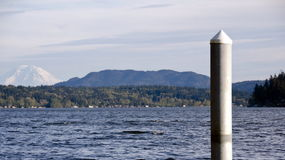 Sammamish Lake with  Rainier  in background Royalty Free Stock Images