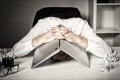 Sammanbrott och fel på arbete arkivfoto