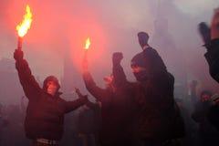 sammandrabbning russia Arkivfoton