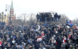 sammandrabbning russia Arkivbild