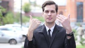 Sammanfoga oss för nytt startar upp, invitera gest av affärsmannen lager videofilmer