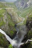Sammanfogande vattenfall Arkivfoto