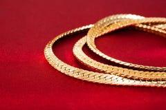 sammankopplin guld royaltyfri bild