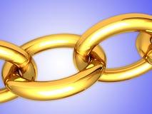 sammankopplin guld Arkivfoto