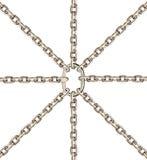 sammankoppliner den metalliska rounden Royaltyfria Bilder