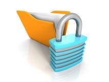 sammankoppliner för kopieringsdata för begreppet konventionell avstånd för säkerhet för padlocken för apparaten för designer hdd  Royaltyfria Bilder