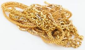 sammankoppliner guld Arkivfoto