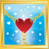 sammankoppliner guld- hjärta Royaltyfri Foto